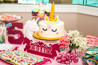 5 yo Unicorn Birthday Party